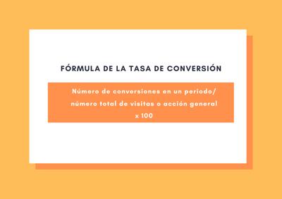 Formula para calcular la tasa de conversion
