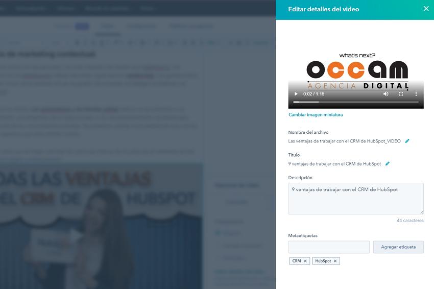 Cómo integrar un vídeo en HubSpot